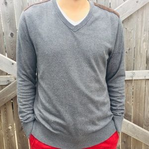 Banana Republic Men's Sweater with Suede Detail